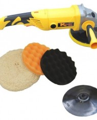 Custom-Shop-Heavy-Duty-Variable-Speed-Polisher-Now-Included-with-a-Free-Professional-3-Pad-Waffle-Foam-Wool-Buffing-and-Polishing-Kit-with-2-Waffle-Foam-1-Wool-Grip-Pads-with-58-Threaded-Grip-Backing–0