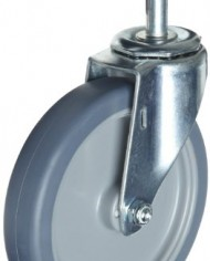 ER-Wagner-Stem-Caster-Swivel-Polyolefin-Wheel-Plain-Bearing-400-lbs-Capacity-6-Wheel-Dia-1-38-Wheel-Width-6-78-Mount-Height-12-13-Stem-Dia-1-Stem-Height-0-0