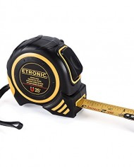 Etronic-25-Foot-by-1-Inch-Tape-Measure-Auto-Lock-Magnetic-Hook-Double-Sided-Blade-Nylon-Bond-Blade-0-0
