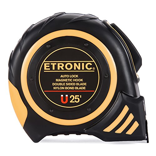 Etronic-25-Foot-by-1-Inch-Tape-Measure-Auto-Lock-Magnetic-Hook-Double-Sided-Blade-Nylon-Bond-Blade-0