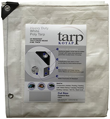 Kotap-16-ft-x-20-ft-Heavy-Duty-12-by-12-Cross-Weave-8-mil-White-Poly-Tarp-Item-TRW-1620-0