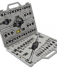 New-45pc-Metric-Tap-and-Die-Set-Tungsten-Steel-Titanium-Tools-Thread-New-w-Case-0