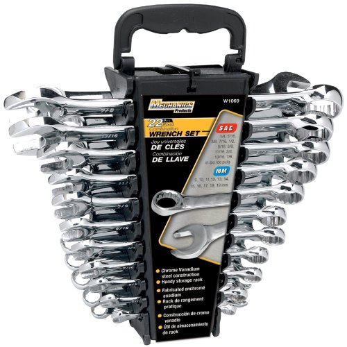 Performance-Tool-W1069-SAEMetric-Polished-Combo-Wrench-Set-22-Piece-0