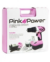 Pink-Power-PP182-18V-Cordless-Drill-Kit-for-Women-with-2-Batteries-Case-Charger-and-Bit-Set-0-5