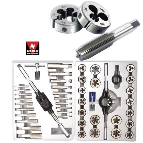 Pro-Grade-45-Piece-Large-Diameter-Alloy-Steel-Tap-Die-Tool-Set-SAE-0