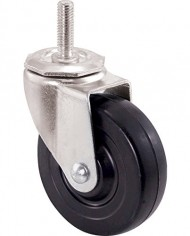 Shepherd-Hardware-9023-4-Inch-Soft-Rubber-Swivel-Stem-Caster-12-Inch-Stem-Diameter-200-lb-Load-Capacity-0