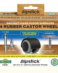 Slipstick-CB681-Floor-Protecting-Rubber-Caster-Wheels-with-Optional-516-Stem-or-Plate-Mounting-Pack-of-4-2-BlackGrey-0-3