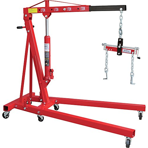 Strongway-Hydraulic-Engine-Hoist-with-Load-Leveler-2-Ton-Capacity-1in-82-58in-Lift-Range-0