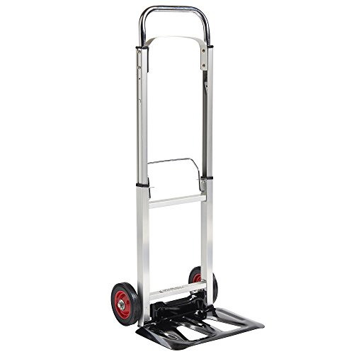 VonHaus-Folding-Hand-TruckDolly-with-200lb-Loading-Capacity-Telescopic-Handle-Aluminum-Frame-0