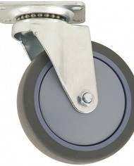 Waxman-4033455T-4-Inch-Rubber-Plate-Caster-with-Swivel-Grey-Tire-and-Wheel-0-0