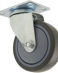 Waxman-4033455T-4-Inch-Rubber-Plate-Caster-with-Swivel-Grey-Tire-and-Wheel-0