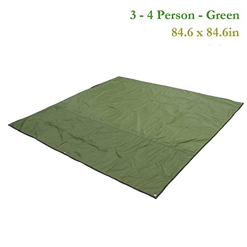 Weanas-2-3-4-Person-Outdoor-Thickened-Oxford-Fabric-Camping-Shelter-Tent-Tarp-Canopy-Cover-Tent-Groundsheet-Camping-Blanket-Mat-Green-0