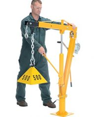 Vestil-WTJ-4-Painted-Steel-Winch-Truck-Jib-Crane-1000-lb-Extended-Capacity-Extended-Usable-Reach-46-Extended-Maximum-Hook-Height-77-12-Yellow-0-3